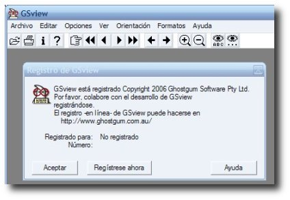 captura inicio de GSview