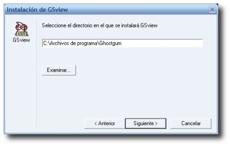 captura instalación de GSview