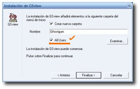 captura instalación GSview